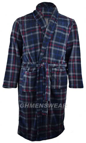 Espionage Check Fleece Bathrobe / Dressing Gown